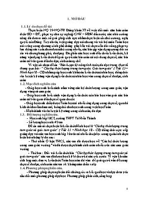 """SKKN Rèn luyện kỹ năng tính toán, đo đạc trong thực tế thông qua bài: """"Các hệ thức lượng trong tam giác. Giải tam giác"""" (Tiết 25 – Hình học 10 - CB)"""