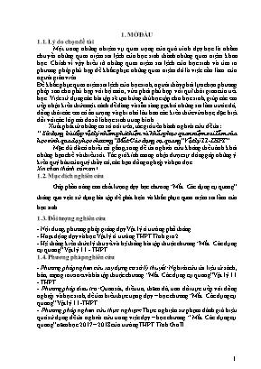 """SKKN Sử dụng bài tập vật lý nhằm phát hiện và khắc phục quan niệm sai lầm của học sinh qua dạy học chương """"Mắt. Các dụng cụ quang"""" Vật lý 11 - THPT"""