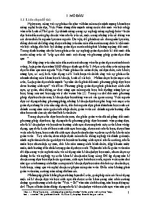 """SKKN Sử dụng kĩ thuật """"khăn phủ bàn"""" trong dạy học qua bài 3 – Địa lí 11 (cơ bản)"""