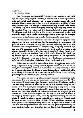 SKKN Sử dụng phim tài liệu kết hợp với sơ đồ tư duy vào giảng dạy tác phẩm Tuyên ngôn độc lập của Hồ Chí Minh (Ngữ văn 12 – Tập 1)