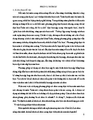 SKKN Sử dụng phương pháp trò chơi để nâng cao hiệu quả dạy và học Toán lớp 3 trường TH Điền Trung I huyện Bá Thước