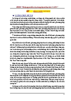 SKKN Sử dụng sơ đồ tư duy trong dạy và học bài 21, Lịch sử lớp 11: Phong trào yêu nước chống Pháp của nhân dân Việt Nam trong những năm cuối thế kỉ XIX