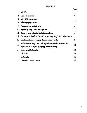 SKKN Tích hợp giáo dục kĩ năng sống vào giảng dạy tiết 1 - Bài 12: Công dân với tình yêu, hôn nhân và gia đình - GDCD 10