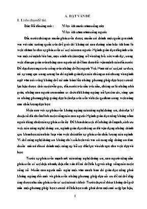 """SKKN Vận dụng phương pháp sơ đồ tư duy vào việc giảng dạy tác phẩm """"Đoàn thuyền đánh cá"""" của Huy Cận - Ngữ Văn 9 tập 1"""