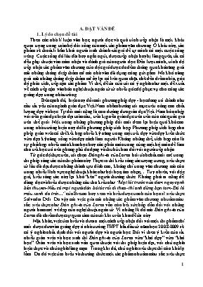 số biện pháp dạy học tích hợp nhằm nâng cao hiệu quả giờ dạy - Học tác phẩm Đàn ghi ta của Lorca của Thanh Thảo
