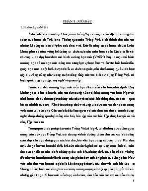 SKKN Một số biện pháp dạy học sinh cảm thụ văn học trong chương trình dạy – học Tiếng Việt cho học sinh lớp 4